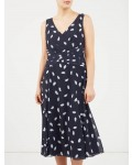Jacques Vert Spotty Soft Prom Dress Multi Blue Dresses