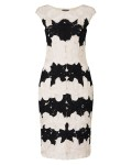Phase Eight Celeste Tapework Dress Black/Cameo Dresses