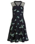 Phase Eight Connie Embroidered Dress Navy/Ivory Dresses