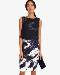 Phase Eight Navy/Ivory Dresses Della Layered Dress | jacquesvertdressuk.com