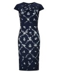 Phase Eight Dionne Print Dress Navy Dresses
