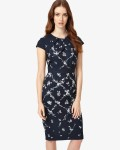 Phase Eight Navy Dresses Dionne Print Dress | jacquesvertdressuk.com