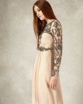 Electra Full Length Dress | Champagne  | Phase Eight