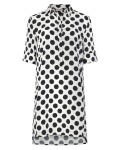 Phase Eight Marilyn Spot Dress Ivory/Navy Dresses