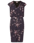 Phase Eight Mia Blossom Print Dress Charcoal/Pink Dresses
