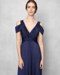 Phase Eight Renee Cold Shoulder Full Length Dress Navy Dresses