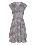 Reiss Angelika Grey Blue/pink Printed Day Dress 29809722,Reiss PRINTED DAY DRESSES