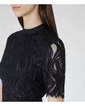 Reiss Bellini Night Navy Lace Contrast Dress