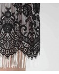 Reiss Eleonora Black Lace And Fringe Dress