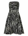 Reiss Elinor Black/white Strapless Boned Dress 29623320,Reiss STRAPLESS BONED DRESSES
