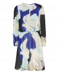 Reiss Neave Bright Sapphire/peppermint Watercolour-Print Dress 29913030,Reiss WATERCOLOUR-PRINT DRESSES