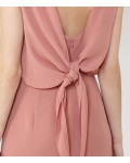Reiss Nica Deep Blush Tie-Back Dress